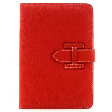 Kunstleder Flipcase für iPad Mini & iPad Mini Retina mit Schlaufe (Rot)