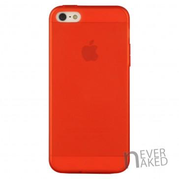 nevernaked iPhone 5 & 5S Schutzhülle aus Kunststoff mit Staubschutz (Rot)