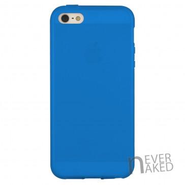 nevernaked iPhone 5 & 5S Schutzhülle aus Kunststoff mit Streifen (Blau)