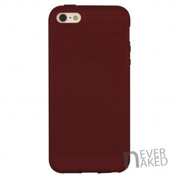 nevernaked iPhone 5 & 5S Schutzhülle aus Kunststoff mit Streifen (Bordeauxrot)