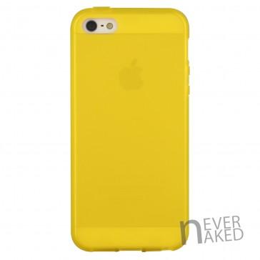 nevernaked iPhone 5 & 5S Schutzhülle aus Kunststoff mit Streifen (Gelb)