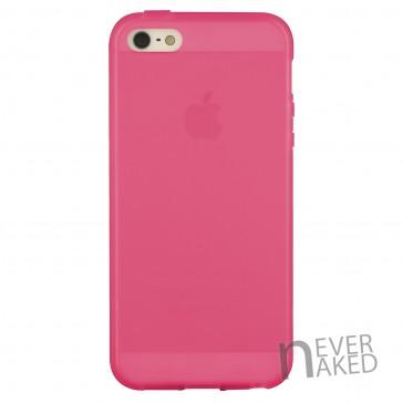 nevernaked iPhone 5 & 5S Schutzhülle aus Kunststoff mit Streifen (Pink)