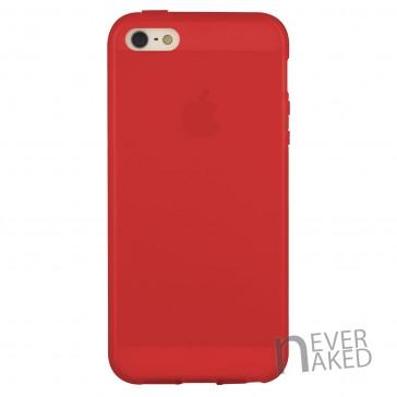 nevernaked iPhone 5 & 5S Schutzhülle aus Kunststoff mit Streifen (Rot)