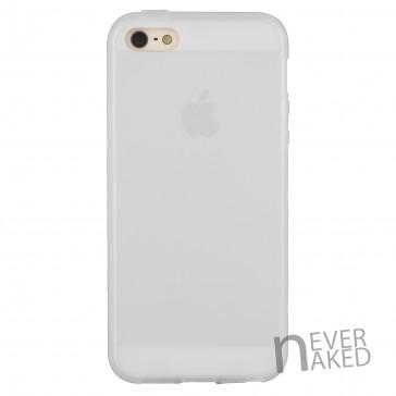 nevernaked iPhone 5 & 5S Schutzhülle aus Kunststoff mit Streifen (Weiß)