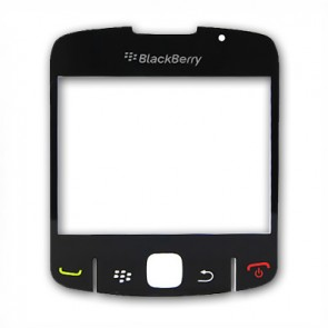 BlackBerry 8520 Curve Displayglas Schwarz (Black)