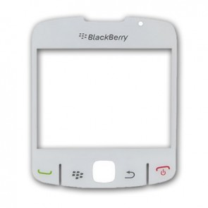 BlackBerry 8520 Curve Displayglas Weiß (White)