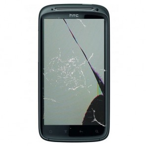 HTC Sensation mit gebrochenem LCD und Displayglas