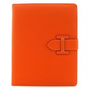 Kunstleder Flipcase für iPad 2/3/4 mit Schlaufe (Orange)