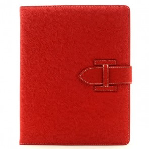 Kunstleder Flipcase für iPad 2/3/4 mit Schlaufe (Rot)