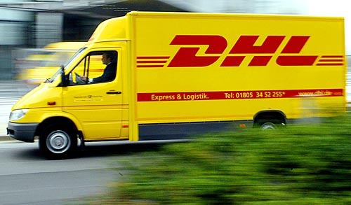 DHL Zustellfahrzeug