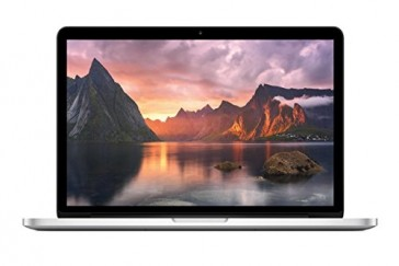 Apple MacBook Pro Retina MF839D/A 33,8 cm (13,3 Zoll) Notebook (Intel Core i5 5257U, 2,7GHz, 8GB RAM, 128GB SSD, Mac OS) silber +++ Amerikanisches Layout (QWERTY)