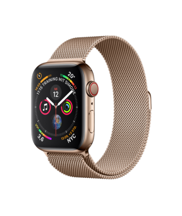 Apple Watch Series 4 WiFi/GPS + Cellular - 44mm - Milanaise Gold - NEU (#5960)