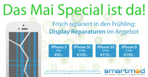 iPhone Display Reparatur Mai-Aktion