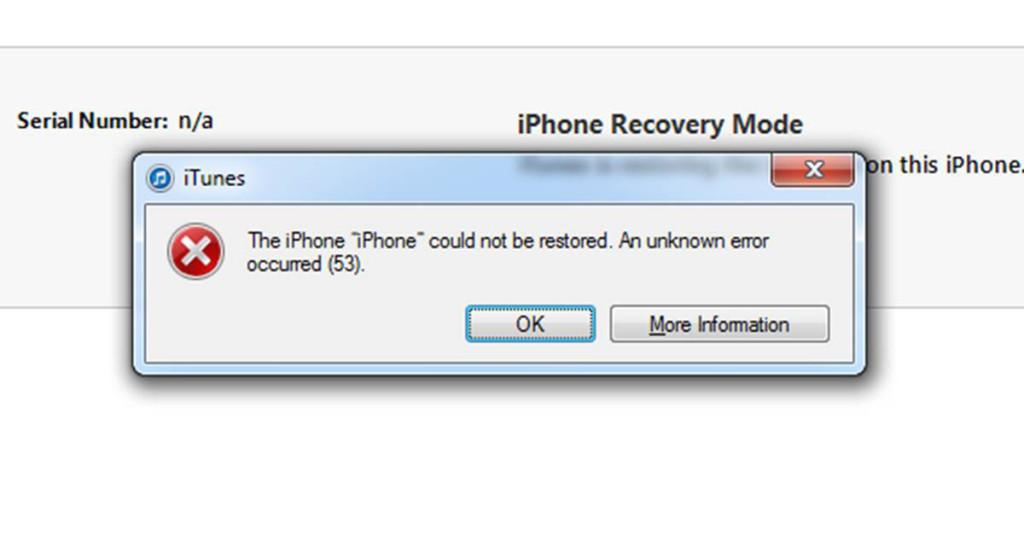 iTunes Error 53